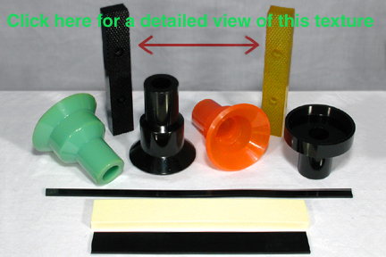 Urethane Clamps of different textures
